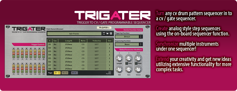 Trigater Triger To CV / Gate by Quadelectra